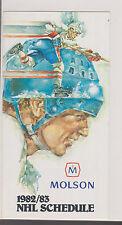 1982-83 82-83 Molson NHL Scheldule Handout Michel Laroque Pictured Inside
