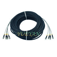 60M Field Outdoor FC-FC 4 Strand Fiber Cable 9/125 Single Mode Fiber Patch Cord