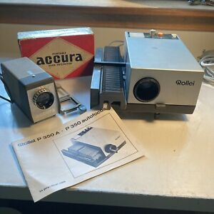 Slides Projector's set:ROLLEI P 350A Automatic+Acura Portable slide Projector