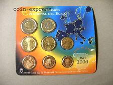 *** EURO KMS SPANIEN 2000 BU Espana Spain Coin Set Kursmünzensatz Münzen ***