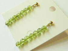 Peridot gold plated sterling silver green gemstone earrings august birthstone.