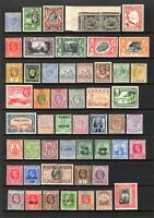 EMPIRE-COMMONWEALTH QV TO KGV RANGE OF MOUNTED MINT & LMM ODD STAMPS CAT £270+
