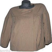 NWT VERTIGO PARIS Cape Swing Coat Jacket career M $240 Bubble tan striped
