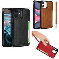 For iPhone 12 Pro Max/12/Mini/Pro Leather Wallet Case Slot Card Cover Skin Stand