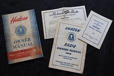 ORIGINAL 1948 HUDSON SIX EIGHT SUPER TRAVELER BIG BOY COMMODORE OPERATORS MANUAL