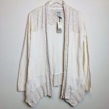 Lucky Lotus Draped Cardigan Sweater Small Lagenlook Softest Knitwear Beige