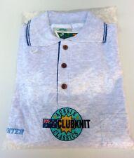 Clubknit New Polo Shirt Mens Sz XL Cotton Light Grey Casual Made in Australia