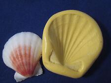 Clam Shell 1 1/8 inch Silicone Mold Gumpaste Fondant isomalt Chocolate  #393
