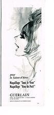 PUBLICITE ADVERTISING  1964   GUERLAIN  cosmétiques