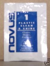 5 NEW NOVUS PLASTIC CLEAN & SHINE ONE APPLICATION SIZE
