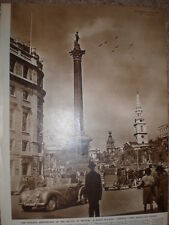 Photo article 7th anniversary Battle of Britain Trafalgar Square fly past 1947