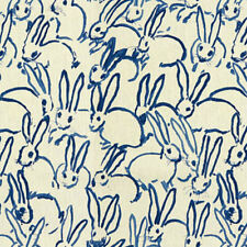 Hunt Slonem- Groundworks Fabric -Bunny-Hutch Print-Fabric By The Yard-