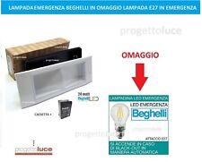 LAMPADA EMERGENZA LED 24W BEGHELLI 1499/24 DA INCASSO E PARETE + OMAGGIO