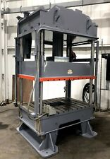 """50 Ton Hydraulic Press Frame • Excellent Condition • 60"""" x 48"""" Bed Area"""