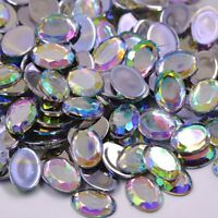 8  mm AB Crystals Flatback Drop Rhinestones Glue On Crystals Stones  5