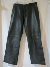 Rossano Ladies Black Leather Pants Size 44