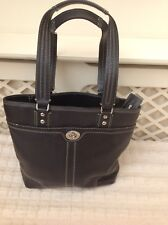 Coach Black Pebbled Leather Small Tote Bag