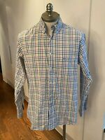 PAUL & SHARK MENS CHECK SHIRT SZ 42 or 17 or EXTRA LARGE XL - RRP $300 - GENUINE