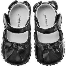 Baby Girls Pediped Natasha Black Patent Shoes Size 0-6 m