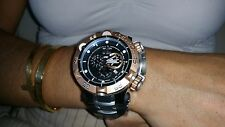 Invicta 12880 Subaqua Noma V Swiss Chronograph Tag & Datum Armband Schwarz Zifferblatt Beast