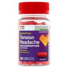 CVS Aspirin-Free Tension Headache Pain Reliever/Pain Reliever Aid Coated Caplets