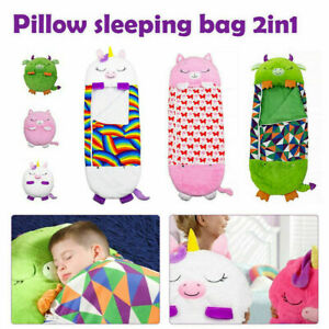 Happy Nappers Sleep Sack Kids Boy Girl Play Pillow Surprise Dragon Cat Ages 2-8