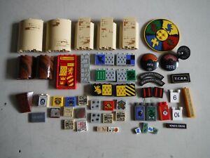 LEGO BULK LOT 54 HARRY POTTER DECORATIVE STICKER TILES BRICKS