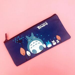 NEW Cute Totoro Pencil Case Kawaii Animals Anime Zip Pouch Pencilcase Stationery