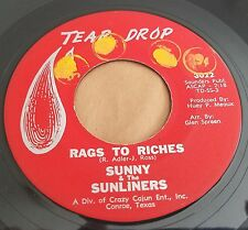 Sunny & the Sunliners: Rags to Riches / Not Even Judgement Day 45 Soul Record
