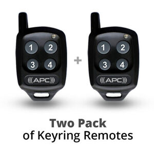 APC Remote Control 2x Value Pack for Complete Range of APC Gate Openers