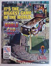 """1994 Bally """"World Cup Soccer"""" Pinball Machine Flyer/Brochure Original"""
