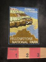 MAMMOTH HOT SPRINGS AT YELLOWSTONE NATIONAL PARK Wyoming Patch 89H4