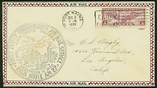 1930 FIRST FLIGHT INAUGURATING AIR MAIL SERVICE ROUTE P.O.D RT. AM 27(ESP#1236)