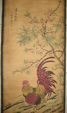 Chinese painting scroll Cock by Qi Baishi qibaishi