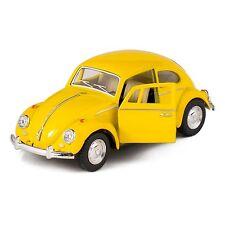 """Kinsmart 1967 Volkswagen VW Classical Beetle 1:32 scale 5"""" diecast YELLOW"""