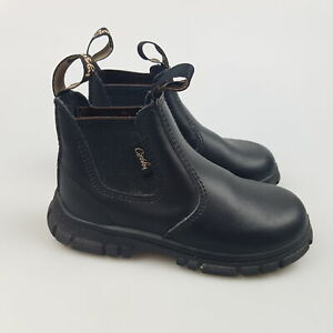 Boy's Girl's GROSBY 'Ranch' Sz 7 UK Boots Black Leather Kids | 3+ Extra 10% Off