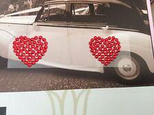 Corazones Rojos Boda Zapato etiqueta engomada de adorno Rhinestone Post Libre
