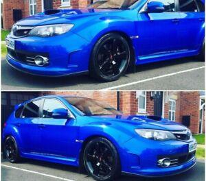 Fits Subaru Impreza 08-10 STi Hatchback   JDM Splitter Lip Spoiler Black Plastic