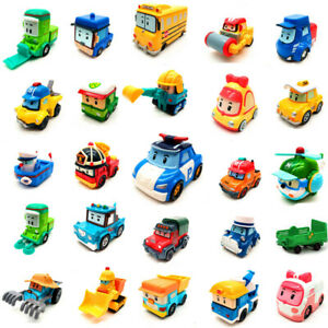 25pcs Robocar Poli Mini Model Toy Car Diecast Vehicle Kid Boy Collect Gift New