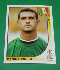 N°496 MANUEL VIDRIO MEXICO PANINI FOOTBALL JAPAN KOREA 2002 COUPE MONDE FIFA