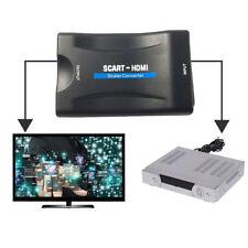 1080P Scart zu HDMI Video Audio Upscaler Konverter Adapter für HD TV DVD Sky Box