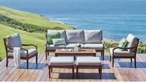 Claire - 6 Piece Outdoor Lounge Set - Solid Eucalyptus Timber