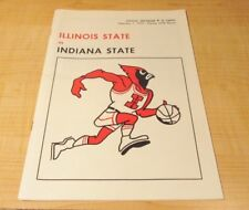 VINTAGE INDIANA STATE BASKETBALL PROGRAM VS. ILLINOIS STATE FEB 7 1973 EXCELLENT