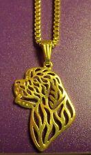 Newfie Newfoundland SAINT ST BERNARD Dog Necklace Pendant ~ Gold Tone