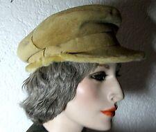 Damen oder Herren Kappe Mütze Polyacryl Fell beige Cap Microfaser Kunst-Pelz