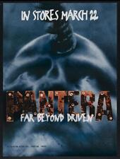 "PANTERA FAR BEYOND DRIVEN - 24"" X 32.5"" Original  Promotional Album Poster 1994"
