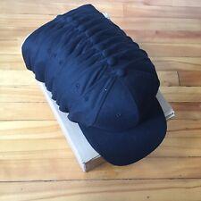 Box of 12 Blank Black Snapback Caps / Hat Starter Sports Specialties Cap Raiders
