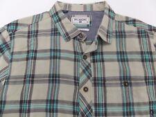 Billabong Men's Flannel Plaid Shirt Flannel Sand M511GVAN SAN Medium COA