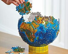 3D Globe Jigsaw Puzzle Earth World Adult Kids Vintage Christmas Gift Present