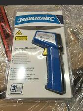 Handheld Infrared Laser Digital Temp Thermometer Non-Contact Gun Silverline
